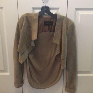 BCBG MaxAzria cropped faux suede blazer